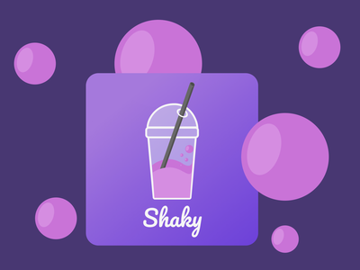 Shaky app vector illustration icon logo design