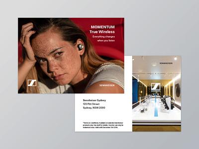 Sennheiser Fashion Week Insert insert print design graphic design
