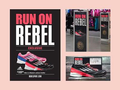 Rebel Sport Store Signage retail design sports signage sports signage store signage print design graphic design