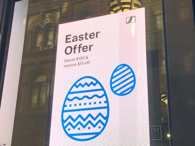 Sennheiser Easter Campaign retail design store signage digital signage graphic design