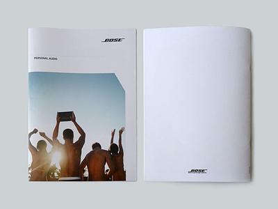 Bose Catalogue catalogue brochure retail design print design graphic design