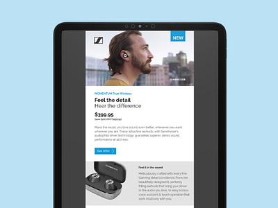 Sennheiser MOMENTUM True Wireless Email digital design layout email design digital signage graphic design
