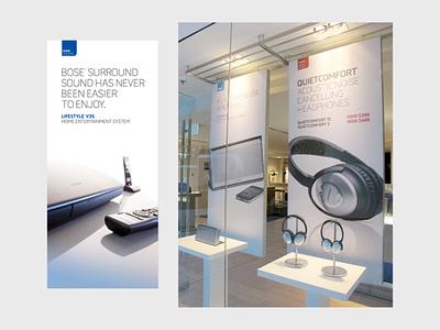 Bose Store Signage design print design retail design store signage graphic design