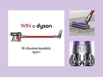 Dyson Competition campaign design facebook ads social media digital design design retail design graphic design