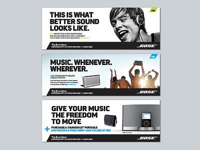 Bose ads audio advertising campaign design design print design retail design graphic design