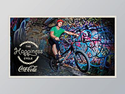 Coca-Cola The Happiness Cycle Poster campaign design print design design graphic design