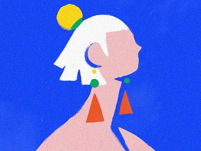 The Breeze draw digitalart blue girl earring fashion illustration fashion illustrator motion graphics motion fashion loop adobe animate adobe celanimation framebyframe animate animation illustration