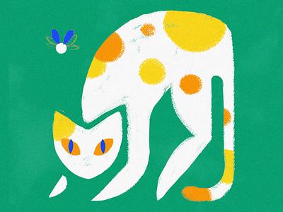 The prey loop animation cute illustration animate cel animation motion animation drawing draw loop cat