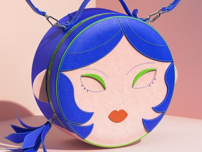 My Round Face Bag fashion illustration fashion design 3d modeling product design set design bag fashion substance painter redshift render design set maxon digital art c4d cinema4d 3d cgi