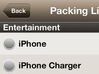 iPhone List UI