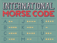 Hand-Lettered International Morse Code Alphabet Chart