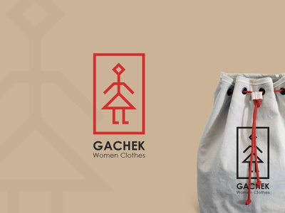 GACHEK illustration clothes shop women material app iran brand graphic design logo