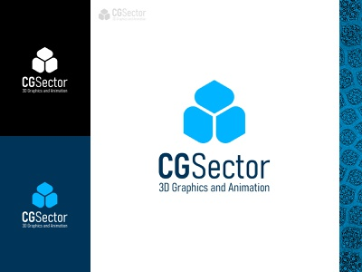 CG Sector animation 3d art 3d icon branding brand iran graphic design logo