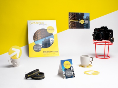 WantedDesign 2015 love print brand stationary way finding bright yellow event branding wanted design