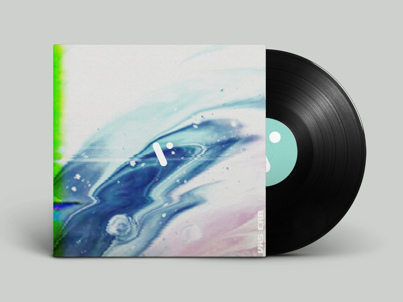 VHS ERA album cover glitch trippy music album art