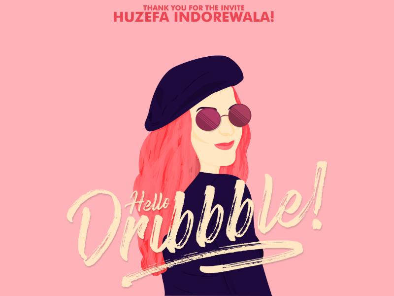 Dribbble Debut brushlettering texture photoshop freethrow adobe illustrator dribbble female illustration