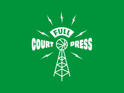 Radio show logo lightning bolts radio basketball branding logo