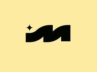 M logo thick branding icon logo star