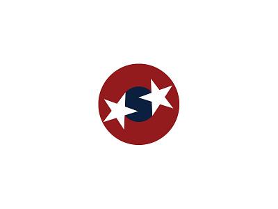 S logo target circle flag stars branding logo