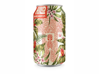 day #67 Pineapple Saison hilo can packaging dole maze pineapple hawaii beer