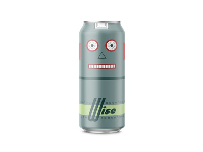 Toy Bot craft beer robot wise washington state brewery packaging can beer