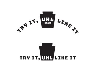 Uhl logo/tagline arch keystone tagline logo brewing beer