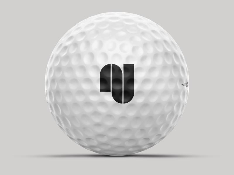 AJ monogram athlete sports ball golf logo monogram