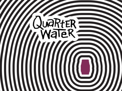 Quarter Water 90s wine cooler juice lettering logo quarter water