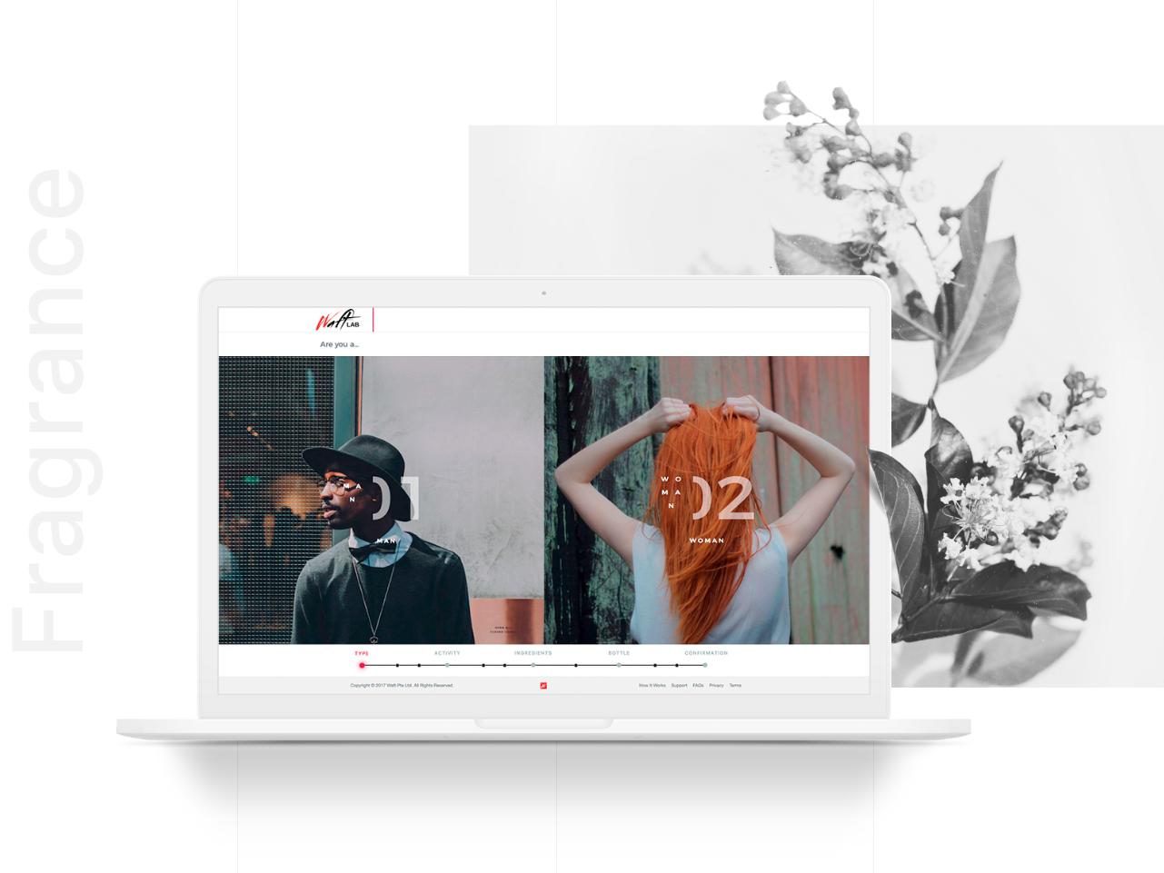 Custom Fragrance App landing clean app design minimalism beauty fragrance app ux design ui mentalstack