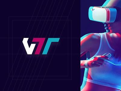 VTT Logo gradient vtt branding 插图 glitch virtualreality vr logo webdesign mobile design app