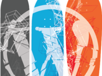 WP Skateboard Triptych