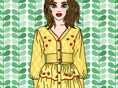 Strawberry Fields sretsis sretsis illustration fashion illustrator fashion illustration candy doll club