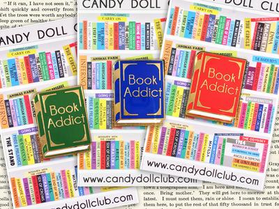 Book Addict Hard Enamel Pins