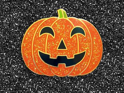 Sparkly Pumpkin Pin