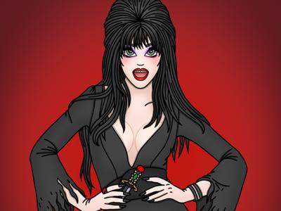 Elvira fanart 80s movie goth gothic mistress of darkness elvira