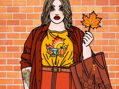 Cosy Autumn fashion autumn fall tattoos fashion illustrator fashion illustration candy doll club