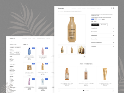 Beauty 365. Hair care & beauty e-commerce ecommerce beauty typogaphy branding website ui  ux ux design ui design design minimal haircare products