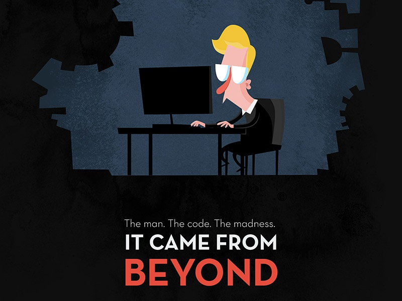 It Came From Beyond | IOTA laboratory crypto vector adobeillustrator characterdesign programming computer mancave geek nerd iota cryptocurrency