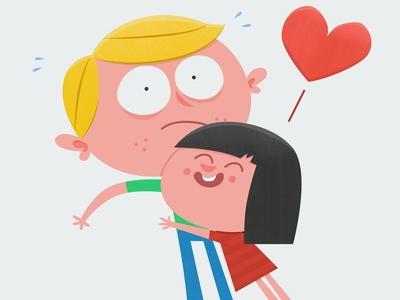 Little sister - big brother | International Hug Day