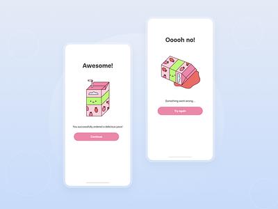 Flash Message Error Success | Daily UI 011 cute illustrations mobile design mobile app design app ui ux ui design illustration ui form minimal dailyui dailyuichallenge