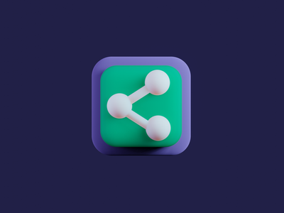 Social Share 3D icon | Daily UI 010 social share button blender3d blender 3d share button share social sharing social share logo dailyui dailyuichallenge
