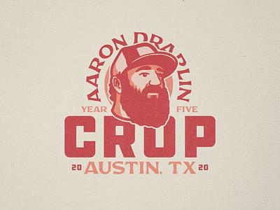Aaron Draplin - Crop 2020 nashville texas austin portrait logo crop ddc draplin badge