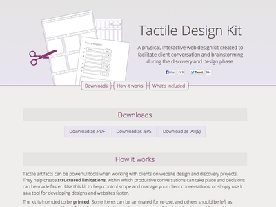 The Tactile Design Kit