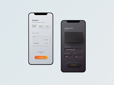 Daily UI #002 - Credit Card Checkout neumorphism ui neumorphic credit card checkout dailyui 002 app ui dailyui