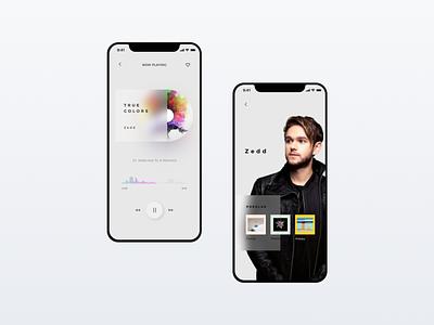 Daily UI #009 | Music Player App zedd app music player dailyui 009 dailyui009