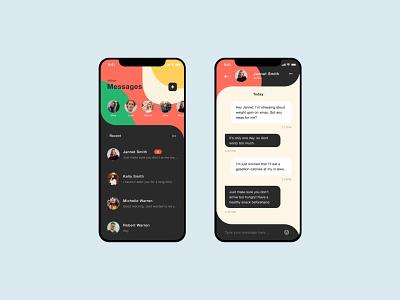 Daily UI #013 | Direct Messaging pop message app message mobile app 013 dailyui013 ui dailyui