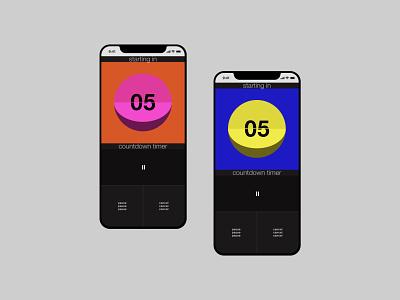Daily UI #014 | Countdown Timer 014 dailyui014 design retro mobile app ui dailyui