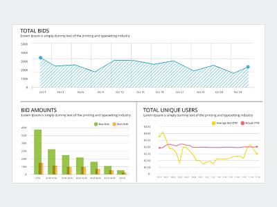 Analytic View ui interface admin data dashboard graph