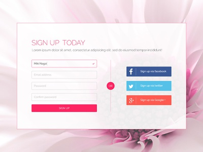 Daily UI 001 : Sign up ui signup 001 dailyui