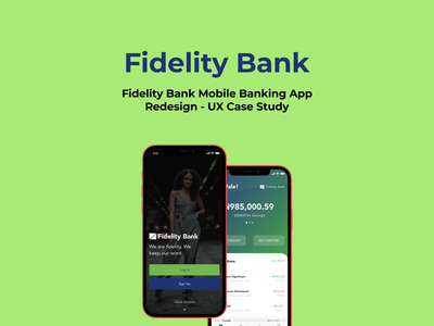 Fidelity Bank Featured Image finance bank uiuxdesign app ui design
